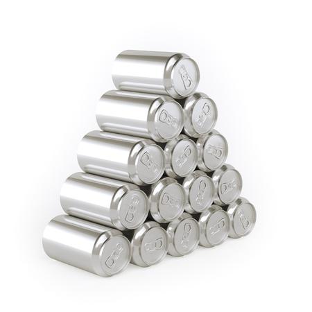 Piramide van blikjes Tin-Plate Materiaal Stockfoto