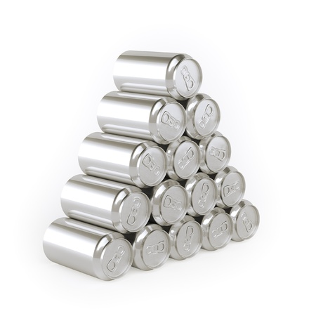 Pyramid of cans  Tin-Plate Material  photo