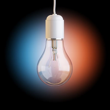 Electric Bulb On Artistic Background photo