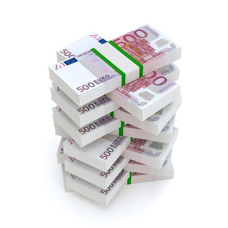ユーロのお金の財政映像の束