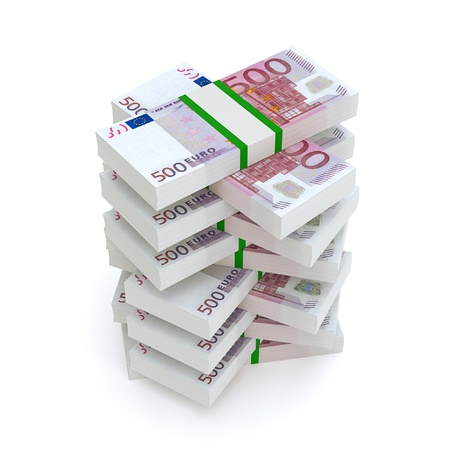 Bundles Of Euro Money  Financial Picture