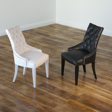 laminate: Minimalist Interior Room With Black And White Chairs Stock Photo