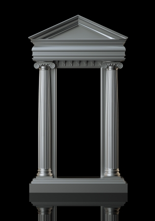 Architecture White Marble Columns On Black Background photo