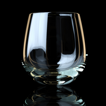 brandy glass: Glass Collection - For Whiskey  On Black Background Stock Photo