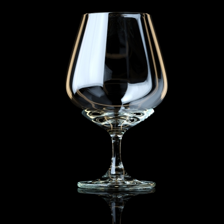 Glass Collection - Snifter  On Black Background photo