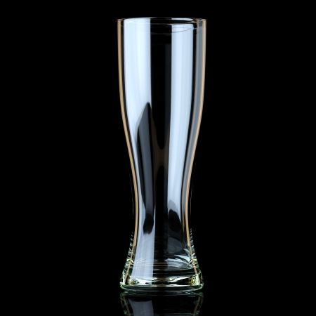 saturated color: Glass Collection - Beer  On Black Background