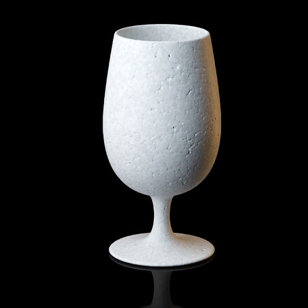 Cognac Or Wine Glass On Black Background photo