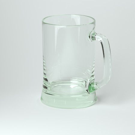 un bottled: Glass Collection - Beer One  On White Background Stock Photo