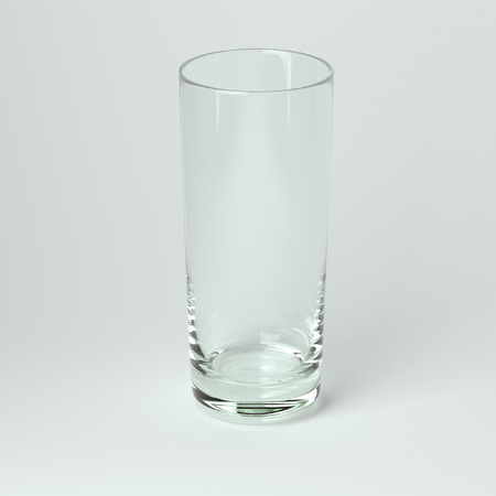 highball: Cocktail Glass Collection - Collins  On White Background
