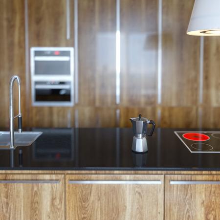 Details of Luury Wooden Kitchen Cabinet Ver 2 photo