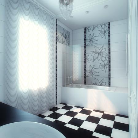 Mooie grote badkamer in luxe huis
