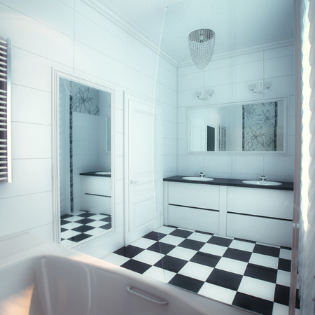 new construction renovation: Beautiful Large Bathroom in Luxury Home