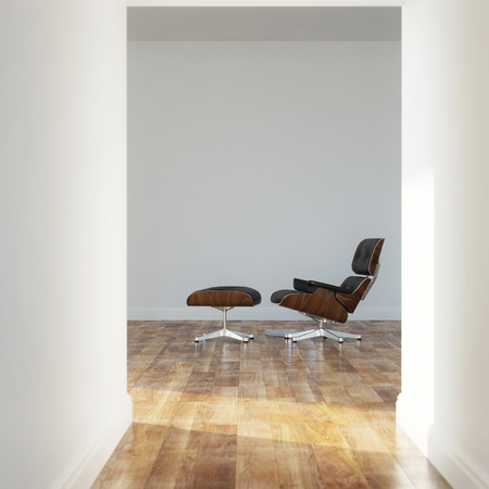 Empty room in a modern house photo