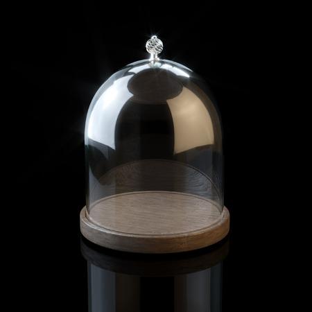 Glaswaren für Cookies und Süßigkeiten auf schwarzem Hintergrund