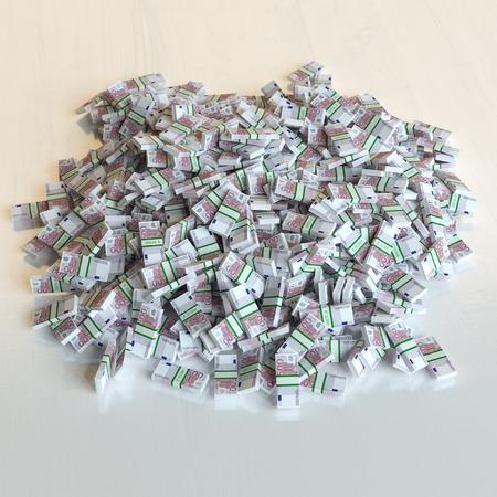 Große Haufen von Euro-Geld (finanzielle Konzept)