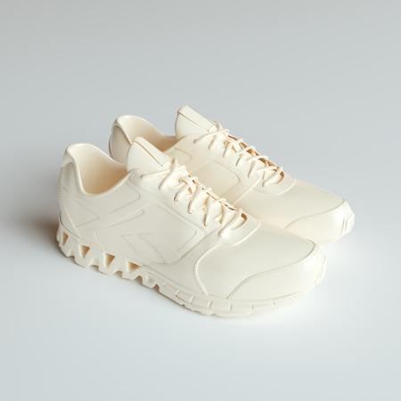 3d model: 3d model of sport shoes on white background