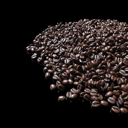 coffeetree: Food and drink background of roasted coffee beans arabica