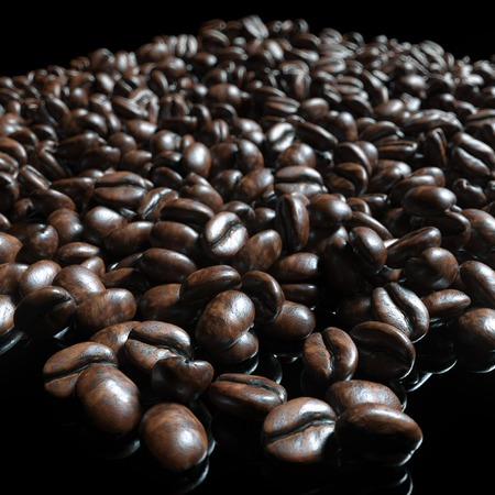 jamoke: Food and drink background of roasted coffee beans arabica