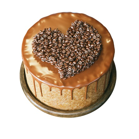 jamoke: Delicous chocolate cake with caramel and coffee beans