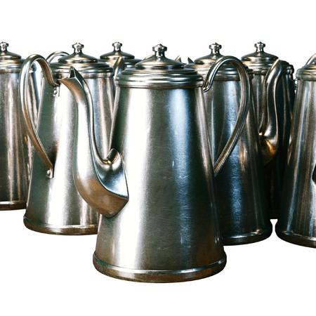 kettles: kettles isolated on white