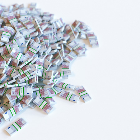 valuta: Euro money (500) banknotes pile. Business motivation. 3d render