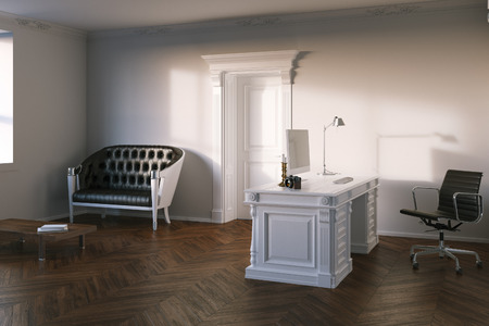 office cabinet: Luxury office cabinet with hardwood flooring. 3d render