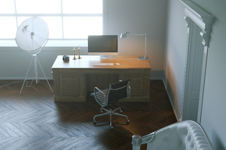 office cabinet: Modern design office cabinet in the morning light. 3d render. Stock Photo