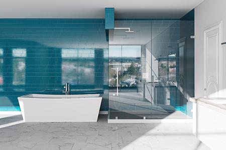 Hotel bathroom concept. Modern architecture interior design, 3d render Foto de archivo - 114448673