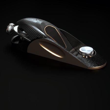 Carpenter vip carbon tool plane for woodwork 3D render Foto de archivo - 121607338