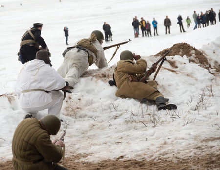reconstruction: Winter Festival of military reconstruction on the coast of the Gulf of Finland in the village of Komarovo