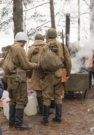 Winter Festival of military reconstruction on the coast of the Gulf of Finland in the village of Komarovo