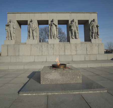 winning location: the eternal flame at the military memorial to those killed during the siege of Leningrad