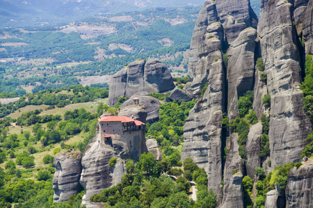 monasteries: view of the ancient Greek monasteries located in the mountains