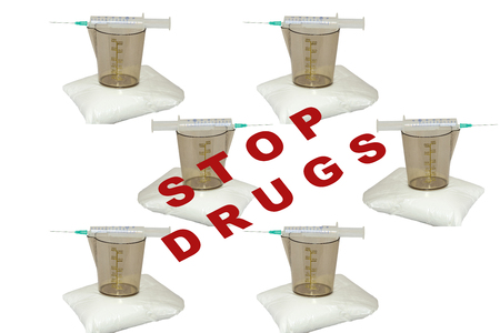 Stop drugs and doping Stock Photo