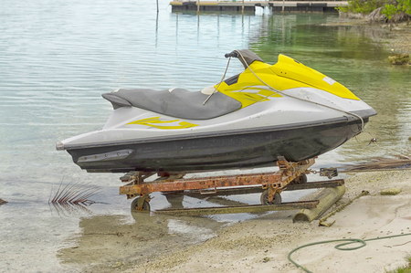 The water motorcycle is designed for fast movement on water in the sea, sports and an active way of life