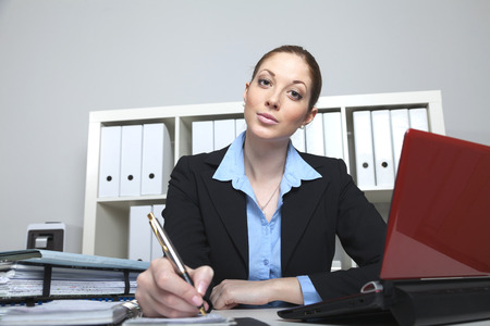 businesslady: Businesslady makes an appointment Stock Photo