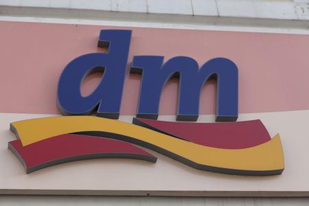 DM Drogerie Markt Logotype Sign of Germanys biggest drugstore chain Publikacyjne