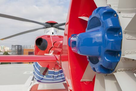MARIGNANE, FRANCE - SEPTEMBER 27TH, 2018 - Airbus Helicopters developed a new tail rotor system which allows higher flight security in extreme weather situations