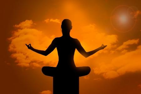 Meditation pose  photo