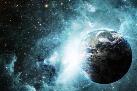 tehnology: Earth and space Stock Photo
