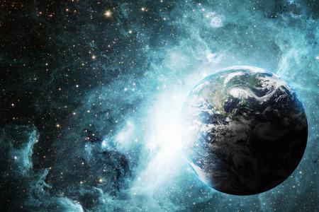 atmosfera: Tierra y el espacio Foto de archivo