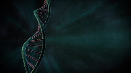 high scale magnification: DNA String Stock Photo