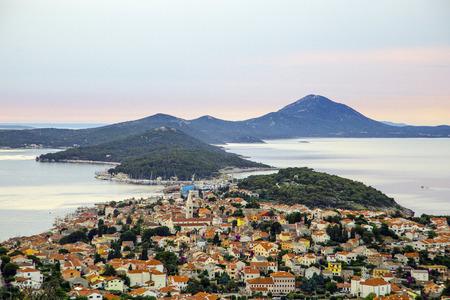 mali: Panoramic view of the largest island town on the Adriatic sea, Mali Losinj, Croatia Stock Photo