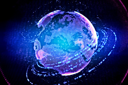 terrestrial: High technology globe. Concept of web and communication