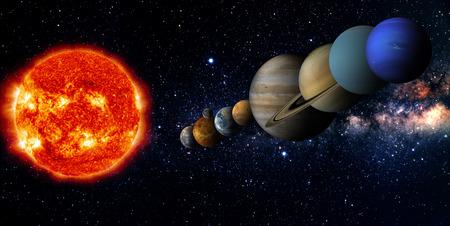 Solar system  Stockfoto