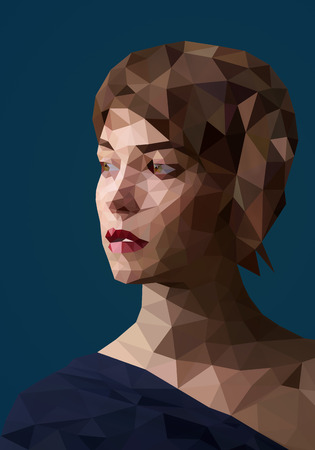 abstract portrait: Low poly abstract portrait