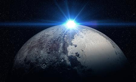 El Plutón tiro del espacio que muestra todo lo que la belleza. imagen muy detallada