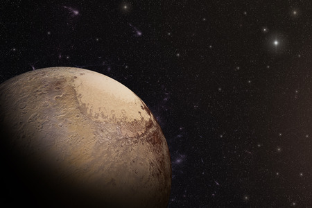 pluto: The Pluto shot from space showing all they beauty. Extremely detailed image