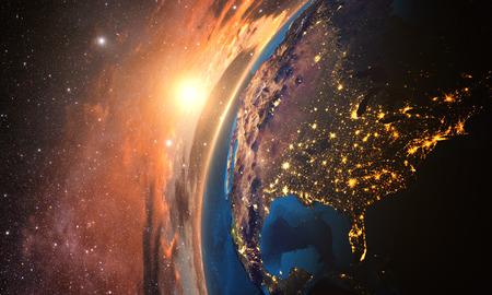 3D-Rendering von detaillierten bunten Erde, sehr detaillierte Planeten am Abend Erde