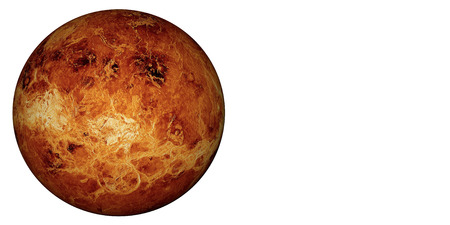 planet: 3D render the planet Venus on a white background, high resolution.